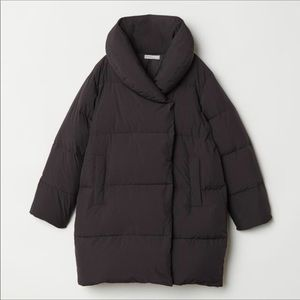 H&M Puffer Down jacket black Size 4
